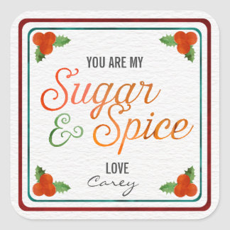 My Sugar and Spice  Christmas Gift Tag Labels Stickers