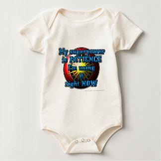 My superhero power is PATIENCE I'm using it... Baby Bodysuit