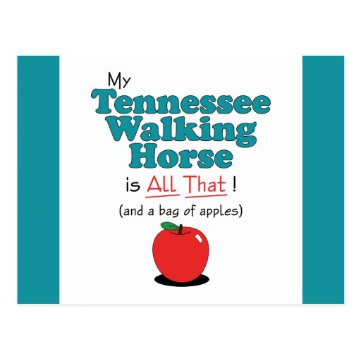 My Tennessee Walking Horse is All That! Postcard