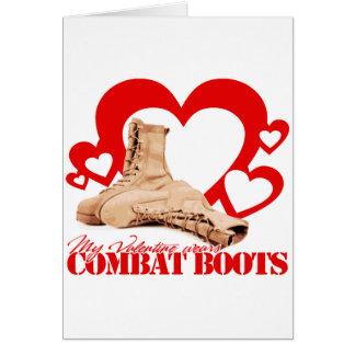My Valentine wears combat boots Card