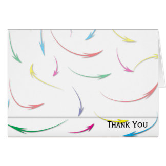 My Way Rainbow Colored Arrows on White Card