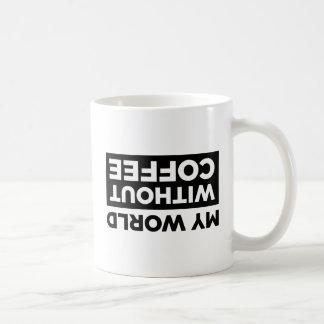 My World Without Coffee Coffee Mug