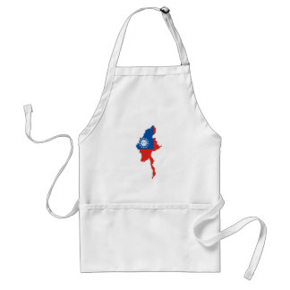 myanmar burma country flag map shape silhouette standard apron