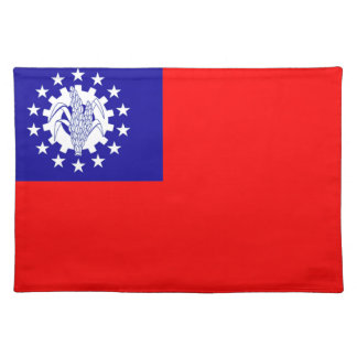 Myanmar Flag Placemat