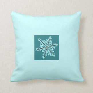 Myasthenia Gravis Awareness Teal Snowflake Pillow