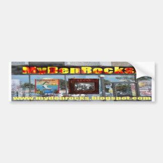 MyDenRocks music website bumper sticker