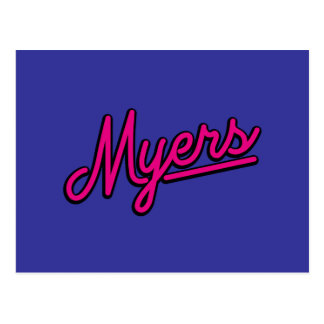 Myers in magenta postcard