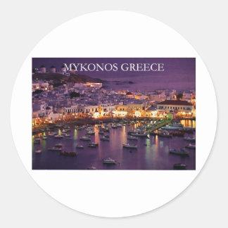 mykonos classic round sticker