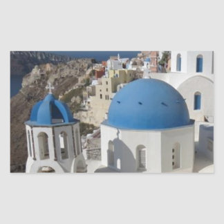 Mykonos Greece Travel Rectangular Sticker