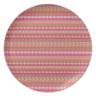 Mysore Silk Fabric Print Pattern from India Unique Plate