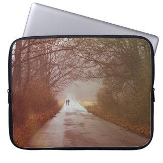 Mysterious Forest, People Walking, Landscape Laptop Sleeve