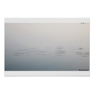 Mysterious Water Bubbles Poster