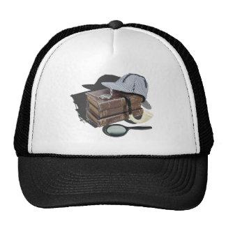 MysteryBooksHatPipeMagnifier042113.png Trucker Hat