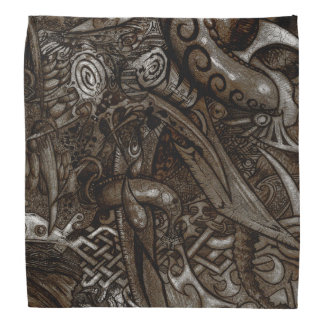 Mystic Blades Intricate Detailed Hand Drawing Do-rag