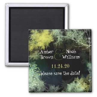 Mystic Evening Forest Wedding Save the Date Magnet