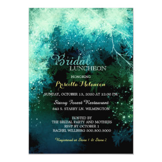 Mystic Forest Bridal Shower Luncheon Card