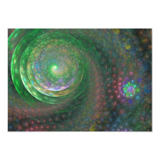 Mystic Forest Sprial Fractal Art 13 Cm X 18 Cm Invitation Card