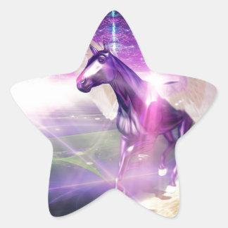 Mystic Horse Star Sticker