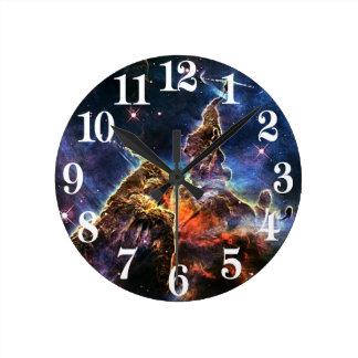 Mystic Mountain in Space NASA Wall Clocks