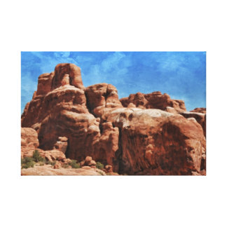Mystic red rocks of Sedona Canvas Print