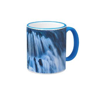Mystical Blue Waterfall Ringer Mug
