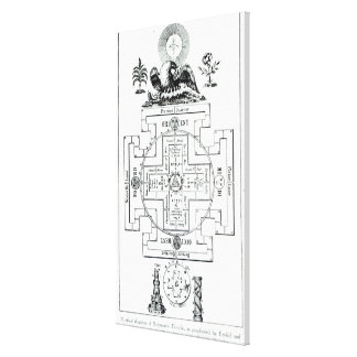 Mystical diagram of Solomon's Canvas Print
