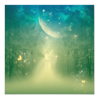 Mystical forest 13 cm x 13 cm square invitation card