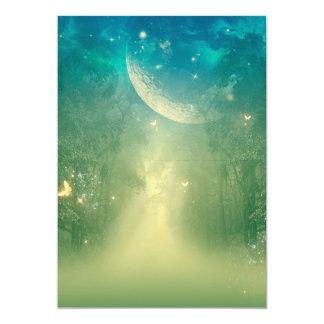 Mystical forest 13 cm x 18 cm invitation card