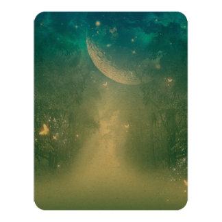 Mystical forest with nebula 11 cm x 14 cm invitation card