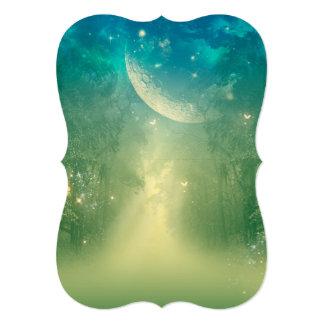 Mystical forest with nebula 13 cm x 18 cm invitation card