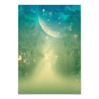 Mystical forest with nebula 9 cm x 13 cm invitation card