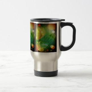 Mystical Leaves Stainless Steel 15 oz Travel Mug