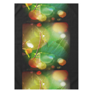 """Mystical Leaves Themed Cotton Tablecloth 52""""x70"""""""