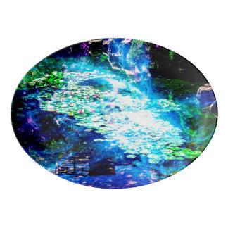 Mystical Pond Porcelain Serving Platter