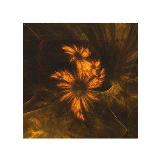 Mystique Garden Abstract Art Wood Canvas