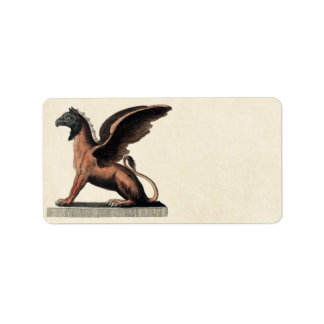 Mythology Educational Plate Address Label