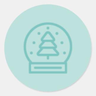 Myths and Mistletoe Snowglobe Stickers