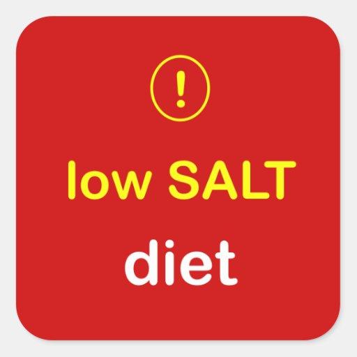 n80 - Food Alert ~ LOW SALT Diet. Square Sticker