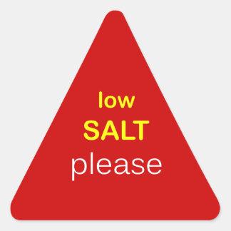 n81 - Food Request ~ LOW SALT PLEASE. Triangle Sticker