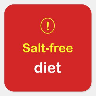n82 - Food Alert ~ SALT-FREE DIET. Sticker