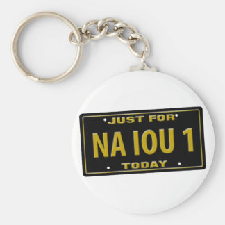 NA IOU 1 BASIC ROUND BUTTON KEY RING