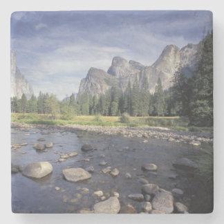 NA, USA, California, Yosemite NP, Valley view Stone Coaster