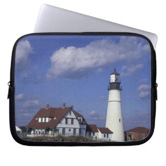 NA, USA, Maine, near Portland, Portland Head Laptop Sleeve