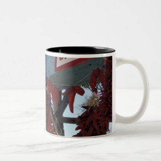 NA, USA, New Mexico, Santa Fe. Two-Tone Coffee Mug