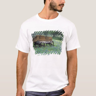 NA, USA, Texas, east of Devine, Old wagon in T-Shirt