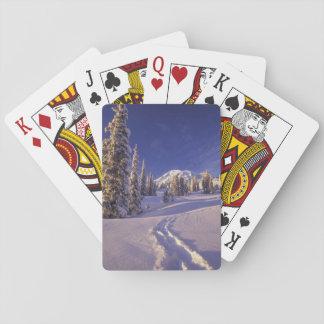 NA, USA, Washington, Mt. Rainier NP, Snowshoe Playing Cards