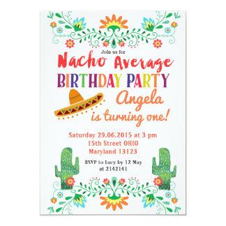 Nacho Average Birthday Party Invitation