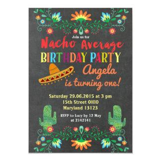 Nacho Average Birthday Party Invitation with photo