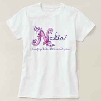 Nadia girls name & meaning N monogram shirt
