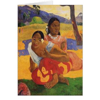 'Nafea Faa Ipoipo' - Paul Gauguin Card